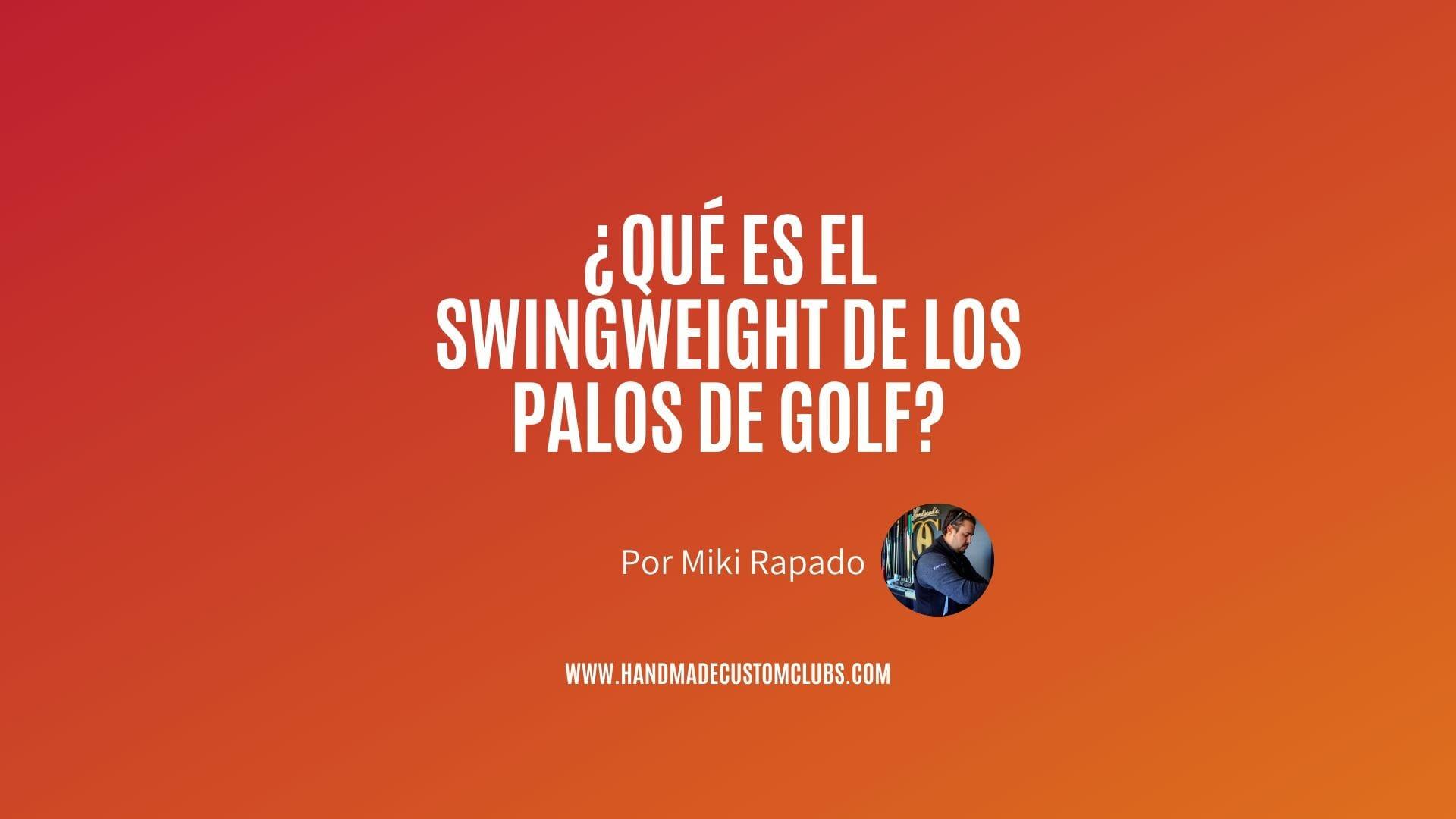 swingweight de los palos de golf